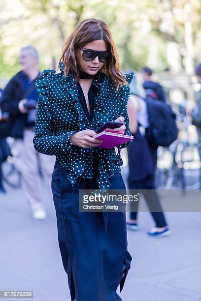 Christine Centenera outside Ellery on October 4 2016 in Paris France