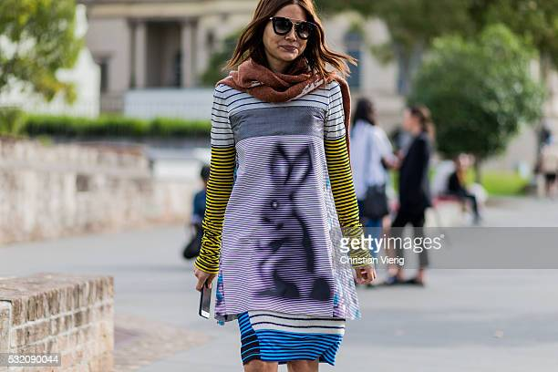 Christine Centenera outside Kitx at MercedesBenz Fashion Week Resort 17 Collections at Carriageworks on May 18 2016 in Sydney Australia