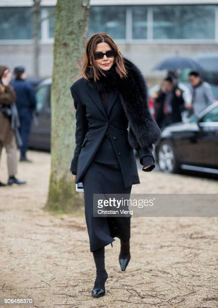 Christine Centenera outside Loewe on March 2 2018 in Paris France