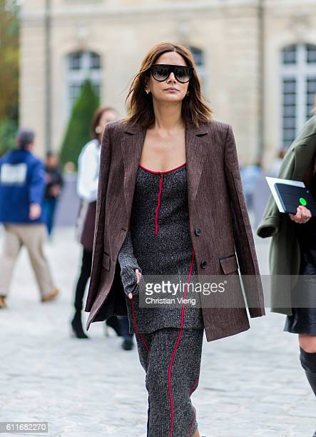 Christine Centenera outside of Dior on September 30 2016 in Paris France