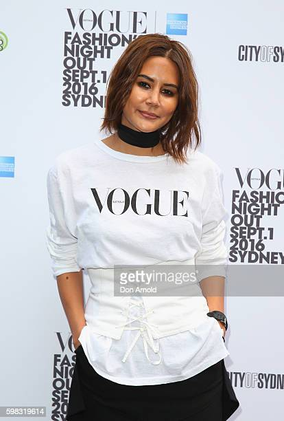 Christine Centenera poses during Vogue American Express Fashion's Night Out on September 1 2016 in Sydney Australia