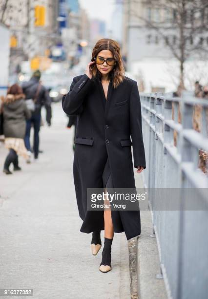 Christine Centenera seen outside Jason Wu on February 9 2018 in New York City