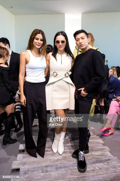 Christine Centenera Tina Leung Bryan Grey Yambao attend the Michael Kors runway show during New York Fashion Week at Spring Studios on September 13...