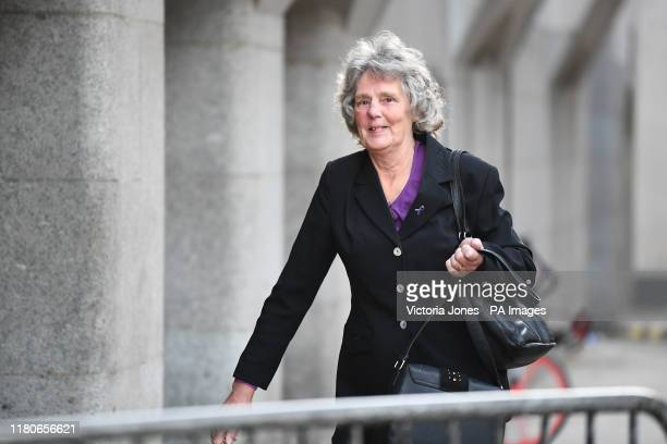 Christine Chesney the grandmother of Jodie Chesney outside the Old Bailey in London after Svenson OngaKwie and a 17yearold boy have been found guilty...