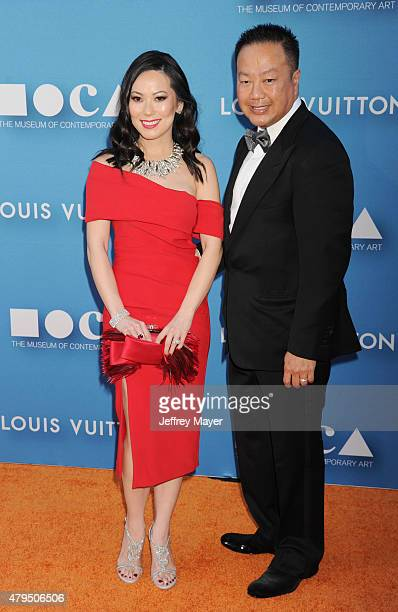 Christine Chiu and Dr Gabriel Chiu arrive at the 2015 MOCA Gala presented by Louis Vuitton at The Geffen Contemporary at MOCA on May 30 2015 in Los...
