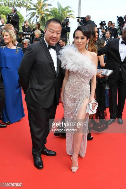 Christine Chiu and guest attend the screening of Once Upon A Time In Hollywood during the 72nd annual Cannes Film Festival on May 21 2019 in Cannes...
