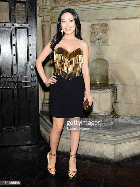 Christine Chiu attends Cameron Silver's Decades A Century Of Fashion book party hosted by Marina B at Chateau Marmont's Bar Marmont on October 19...