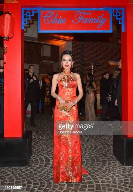Christine Chiu attends Piaget Bottega Venetta and Chiu Family Celebrates Chinatown 90210 on February 19 2019 in Beverly Hills California
