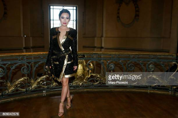 Christine Chiu attends the 'Armani' Paris ShowsFall/Winter 20172018 show as part of Haute Couture Paris Fashion Week on July 4 2017 in Paris France