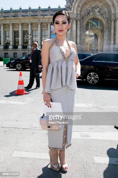 Christine Chiu attends the 'CHANEL' Paris ShowsFall/Winter 20172018 show as part of Haute Couture Paris Fashion Week on July 4 2017 in Paris France