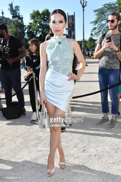 Christine Chiu attends the Giorgio Armani Prive Haute Couture Fall/Winter 2019 2020 show as part of Paris Fashion Week on July 2 2019 in Paris France