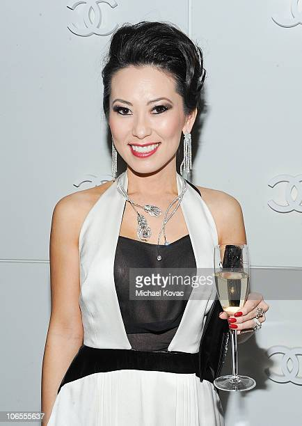 Christine Chiu attends the Plumes De Chanel Cocktail Party hosted by Chanel Fine Jewelry on November 4 2010 in Beverly Hills California