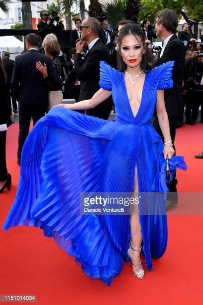 Christine Chiu attends the screening of Oh Mercy during the 72nd annual Cannes Film Festival on May 22 2019 in Cannes France