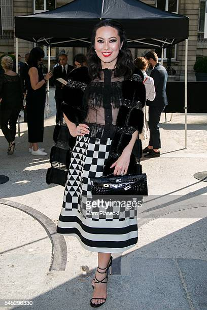 Christine Chiu attends the Valentino Haute Couture Fall/Winter 20162017 show as part of Paris Fashion Week on July 6 2016 in Paris France