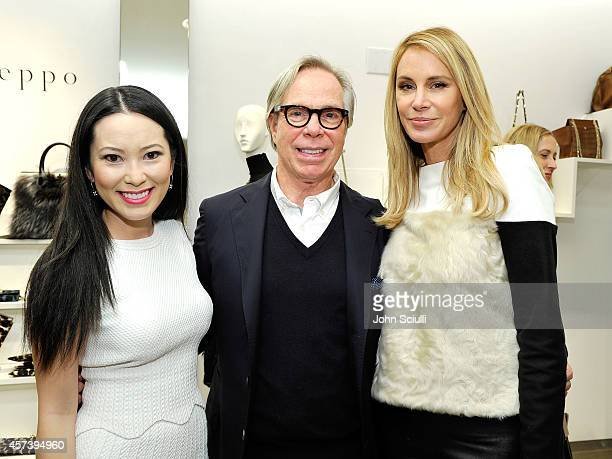 Christine Chiu Designers Tommy Hilfiger and Dee Ocleppo attend Dee Ocleppo PA at Saks Fifth Avenue Beverly Hills on October 17 2014 in Beverly Hills...