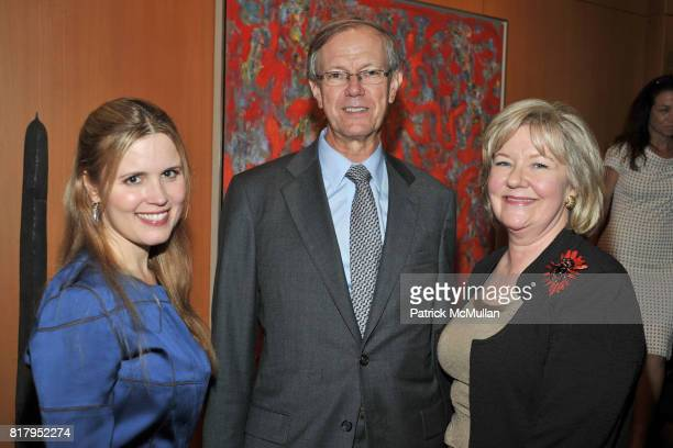 Christine Corcoran Gregory Hedberg and Margaret Hedberg attend Laura and Richard Parsons Host the Celebration of The AMERICAN FOLK MUSEUM'S Advocates...
