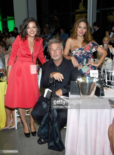 Christine Currence Alec Baldwin and Hilaria Baldwin attend the Badgley Mischka Spring 2019 Runway Show during New York Fashion at Gallery I at Spring...