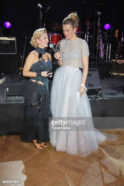 Christine Deck and Susanne Boehm during the 21st Blauer Ball at Hotel Atlantic on April 7 2018 in Hamburg Germany