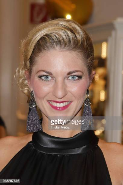 Christine Deck during the 21st Blauer Ball at Hotel Atlantic on April 7 2018 in Hamburg Germany