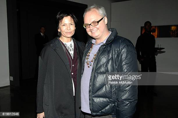 Christine DeLassus and Mickey Boardman attend A MILK GALLERY PROJECT Presents TRANSIT by ALEXI LUBOMIRSKI at Milk Gallery on October 21 2008 in New...