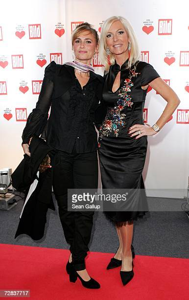 Christine Delling and Marion Fedder attend the Herz fuer Kinder charity gala at Axel Springer Haus December 16, 2006 in Berlin, Germany.
