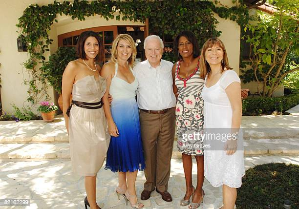 Christine Devine Wendy Burch Richard Riordan Pat Harvey and Ana Garcia attend The Good News Foundation event on August 2 2008 in Brentwood California