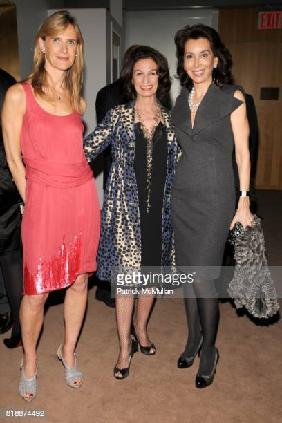 Christine Dutreil Alba Clemente and Fe Fendi attend LOEWE Dinner at The Magic Room on April 27 2010 in New York City