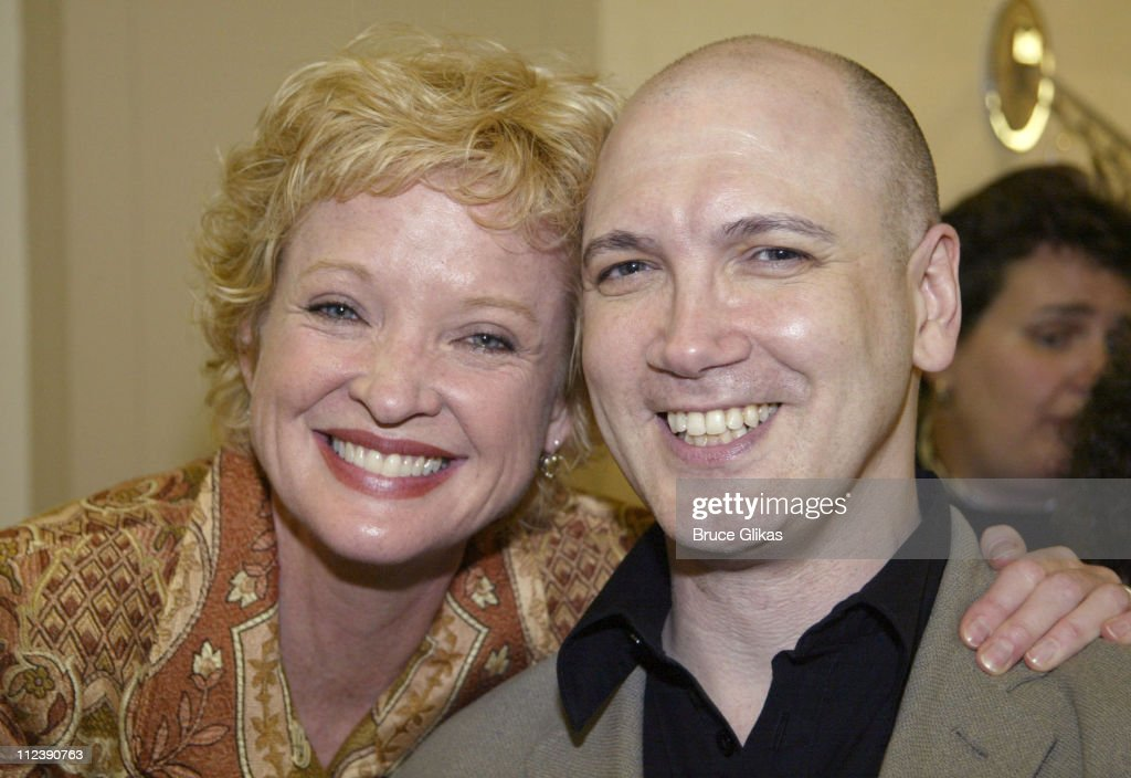 Christine Ebersole and Charles Busch during The Official Drama Desk Cocktail Party at St John Boutique in New York City, New York, United States.