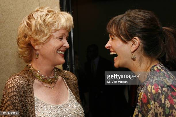 Christine Ebersole and Julia Roberts during 72nd Annual Drama League Awards Ceremony and Luncheon at Marriott Marquis Hotel in New York NY United...