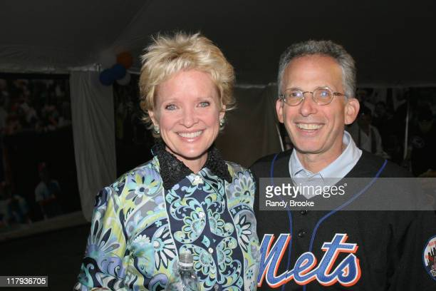 Christine Ebersole and Larry Tarica during A Night to Believe New York Mets and Project ALS June 4 2004 at Shea Stadium in New York City New York...