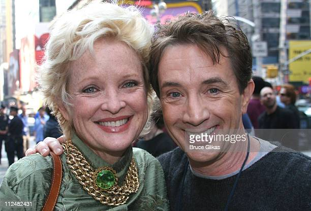 Christine Ebersole and Martin Short during 2006 Broadway on Broadway Season KickOff Concert at Times Square and ABC Studios in New York City New York...