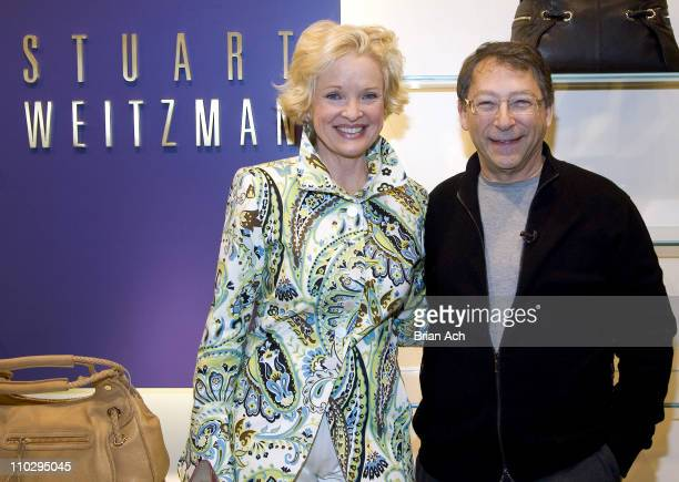Christine Ebersole and Stuart Weitzman during Bloomingdale's Welcomes Grey Gardens Star Christine Ebersole and Designer Stuart Weitzman at...