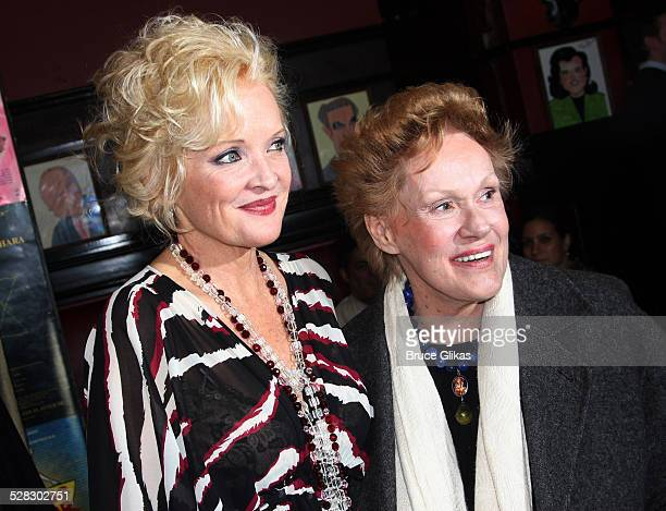 Christine Ebersole and Tammy Grimes attends the Blithe Spirit Broadway opening night party at Sardi's on March 15 2009 in New York City