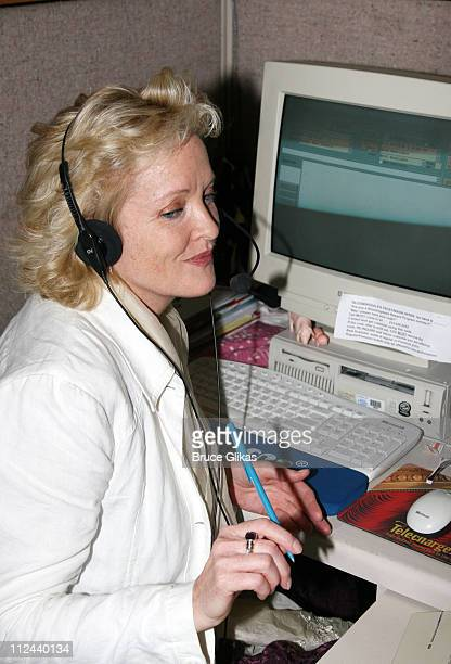 Christine Ebersole during 2007 Tony Winner Christine Ebersole visits Telecharge at Telecharge Offices in New York NY United States