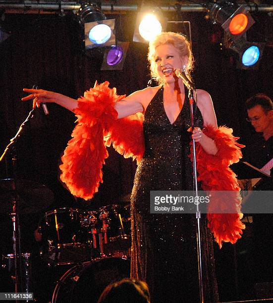 Christine Ebersole performs during Rockers on Broadway Salutes Motown at BB King Blues Club October 22 2007 in New York City