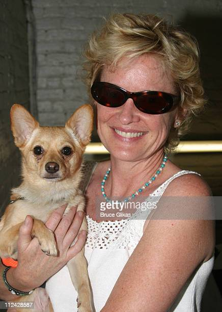 Christine Ebersole who adopted 'Ziggy' during Broadway Barks 5 in Shubert Alley at Shubert Alley in New York City New York United States