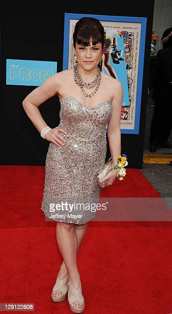 Christine Elise arrives to the Prom World Premiere at the El Capitan Theatre on April 21 2011 in Hollywood California