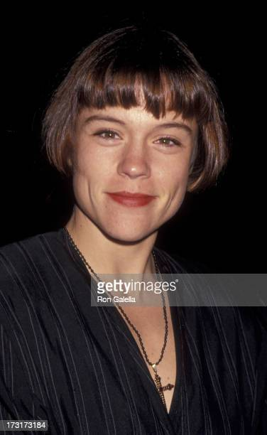 Christine Elise attends Aaron Spelling Christmas Party on December 13 1993 at the Beverly Wilshire Hotel in Beverly Hills California