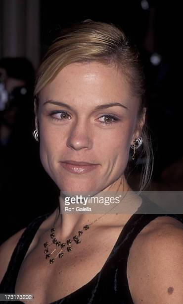 Christine Elise attends Aaron Spelling Christmas Party on December 7 1995 at the Beverly Wilshire Hotel in Beverly Hills California