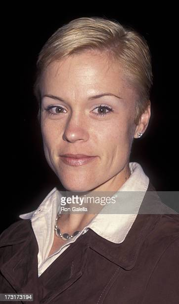 Christine Elise attends the opening of D Girl on April 4 1997 at the Culver City Playhouse in Culver City California