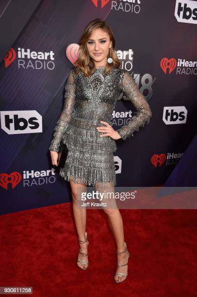 Christine Evangelista arrives at the 2018 iHeartRadio Music Awards which broadcasted live on TBS TNT and truTV at The Forum on March 11 2018 in...