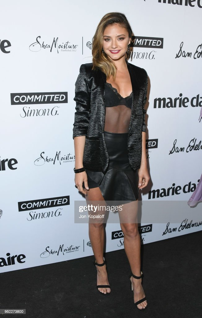 Christine Evangelista attends Marie Claire's 5th Annual 'Fresh Faces' at Poppy on April 27, 2018 in Los Angeles, California.