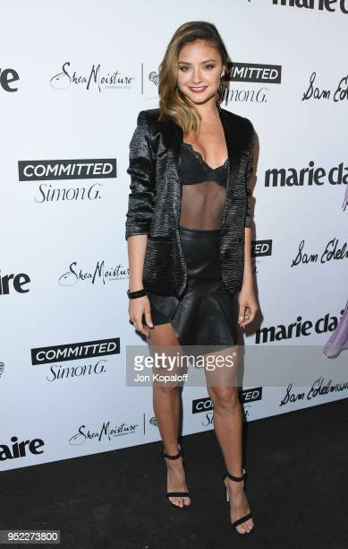 Christine Evangelista attends Marie Claire's 5th Annual 'Fresh Faces' at Poppy on April 27 2018 in Los Angeles California