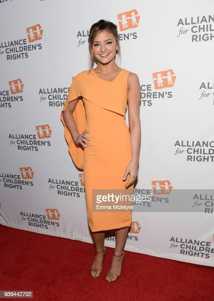 Christine Evangelista attends The Alliance For Children's Rights 26th Annual Dinner at The Beverly Hilton Hotel on March 28 2018 in Beverly Hills...