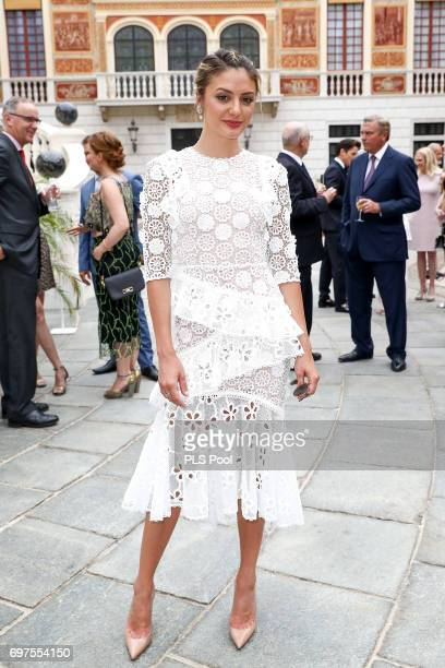 Christine Evangelista attends the cocktail party of the 57th Monte Carlo TV Festival at the Monaco Palace on June 18 2017 in MonteCarlo Monaco