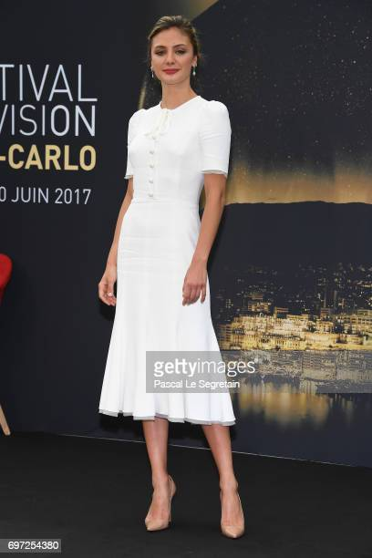 Christine Evangelista from 'The arrangement' attends a photocall during the 57th Monte Carlo TV Festival Day 3 on June 18 2017 in MonteCarlo Monaco