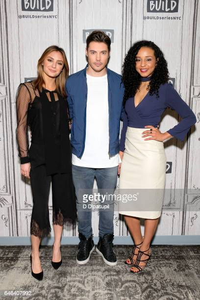 Christine Evangelista Josh Henderson and Carra Patterson attend the Build Series to discuss 'The Arrangement' at Build Studio on February 28 2017 in...
