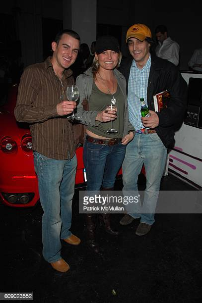 Christine Farias and Adam Shugar attend DAVID YURMAN presents the DAVID YURMAN RACECAR and the Fall 2007 Men's Collection at Classic Car Club...