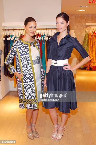 Christine Fereirra and Courtney McCann attend OSCAR DE LA RENTA RECEPTION WITH BOAZ MAZOR at Oscar de la Renta Boutique on October 29 2008