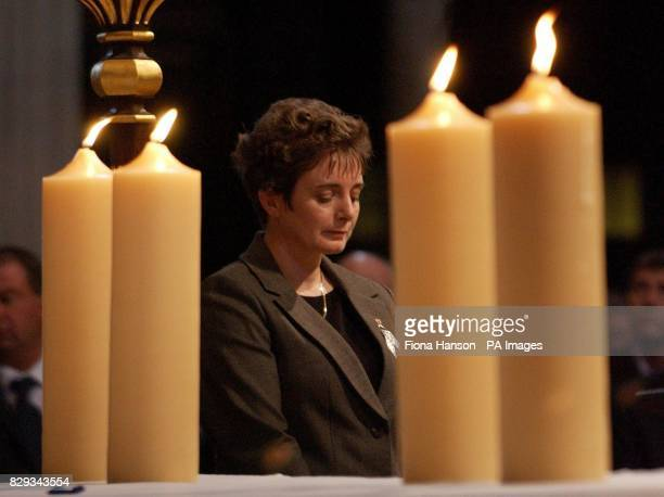 Christine Fulton, widow of PC Lewis Fulton who was stabbed in 1994 while attempting to arrest a deranged knifeman, after lighting a candle to...